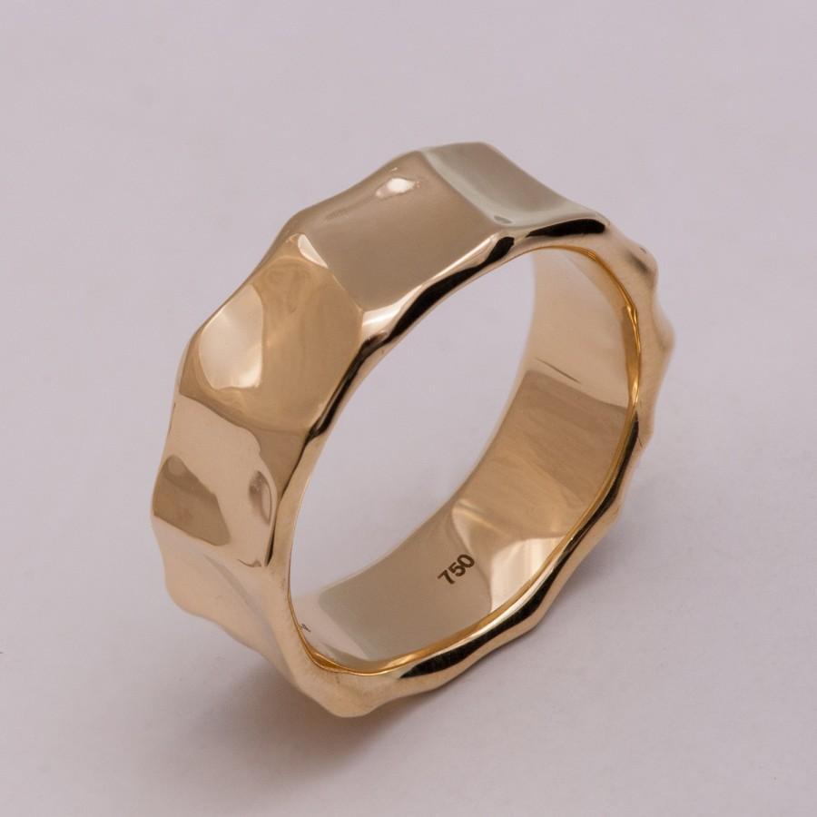 زفاف - Butter No.1 - 14K Gold Wedding Band, 14K Gold Ring, unisex ring, wedding ring, wedding band, mens ring, men's wedding band