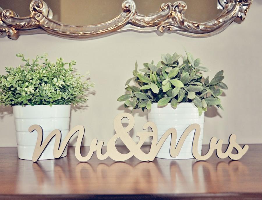 Mariage - Mr & Mrs Wood Wedding Decoration