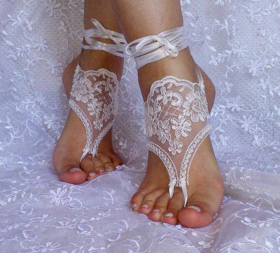 da011b84761650 Free Ship Lace Barefoot Sandals