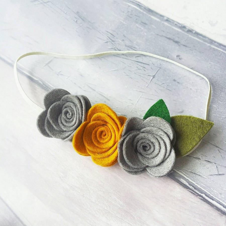 Design Your Own Triple Rose Crown Headband 60 Colours To Choose