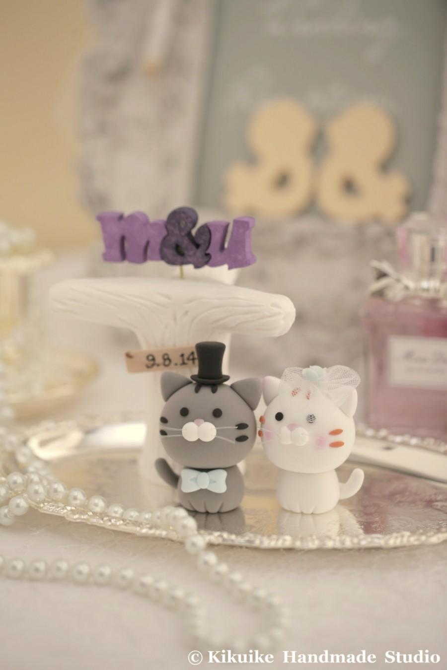 Decor - Cat And Kitty Wedding Cake Topper---k884 #2412706 - Weddbook