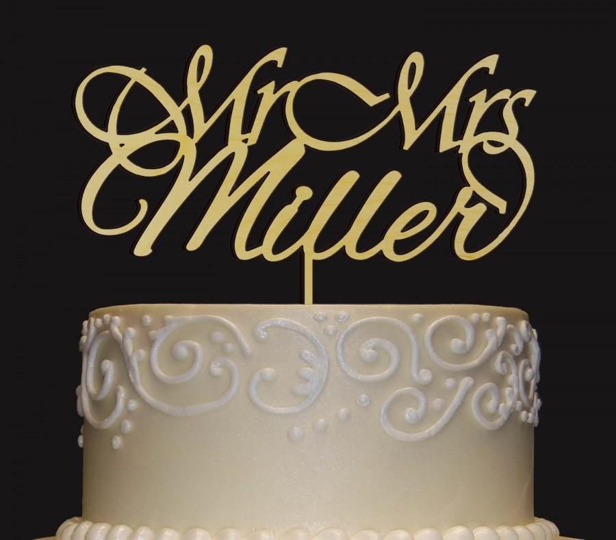 Mariage - Rustic Wedding Cake Topper - Personalized Monogram Cake Topper - Mr  Mrs Cake Topper - Keepsake Wedding Cake Topper