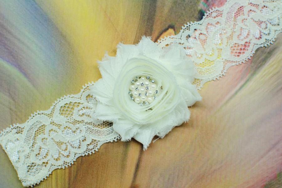 Hochzeit - Ivory Garter Wedding Garter Bridal Garter Prom Garter Ivory Garters Lace Garter Toss Garter Keepsake Garter Ivory Garter Ivory Lace