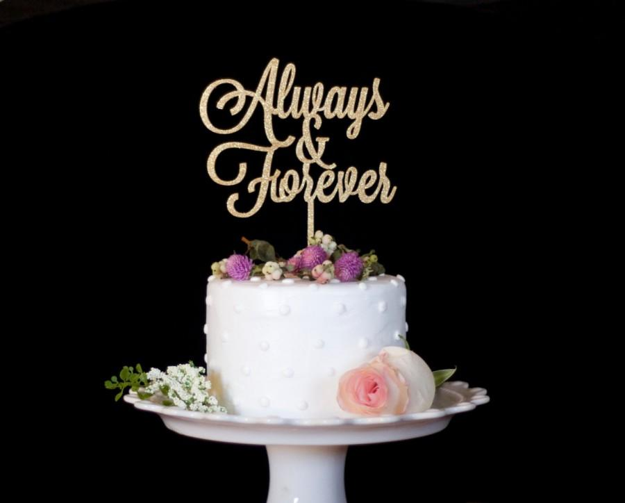 Свадьба - Always and Forever Cake Topper