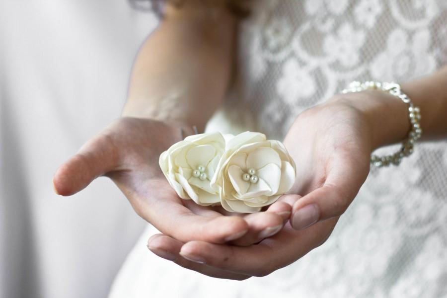 Mariage - Wedding Accessories, Bridal  Flower Hair,  Bridal Hair,Wedding hair accessory, Bridal Accessor