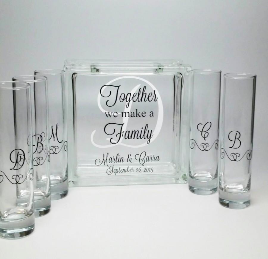 Blended Family Sand Ceremony Set   Unity Candle Alternative   Together We  Make A Family   Beach Wedding Decor  Blended Family Wedding Theme