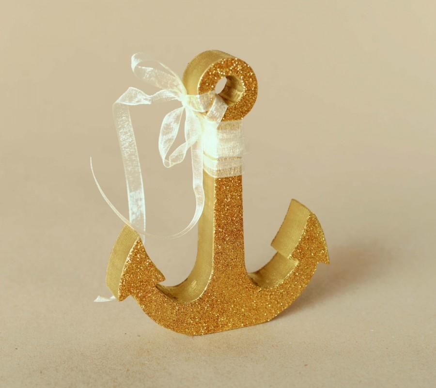 Gold glitter wedding decor gold anchor wedding table for Anchor decoration