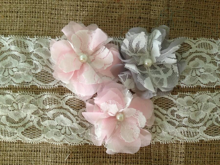 Wedding - www.theheritagebride.com  Gray Garter, Pink Garter, Wedding Garter, Ivory Garter