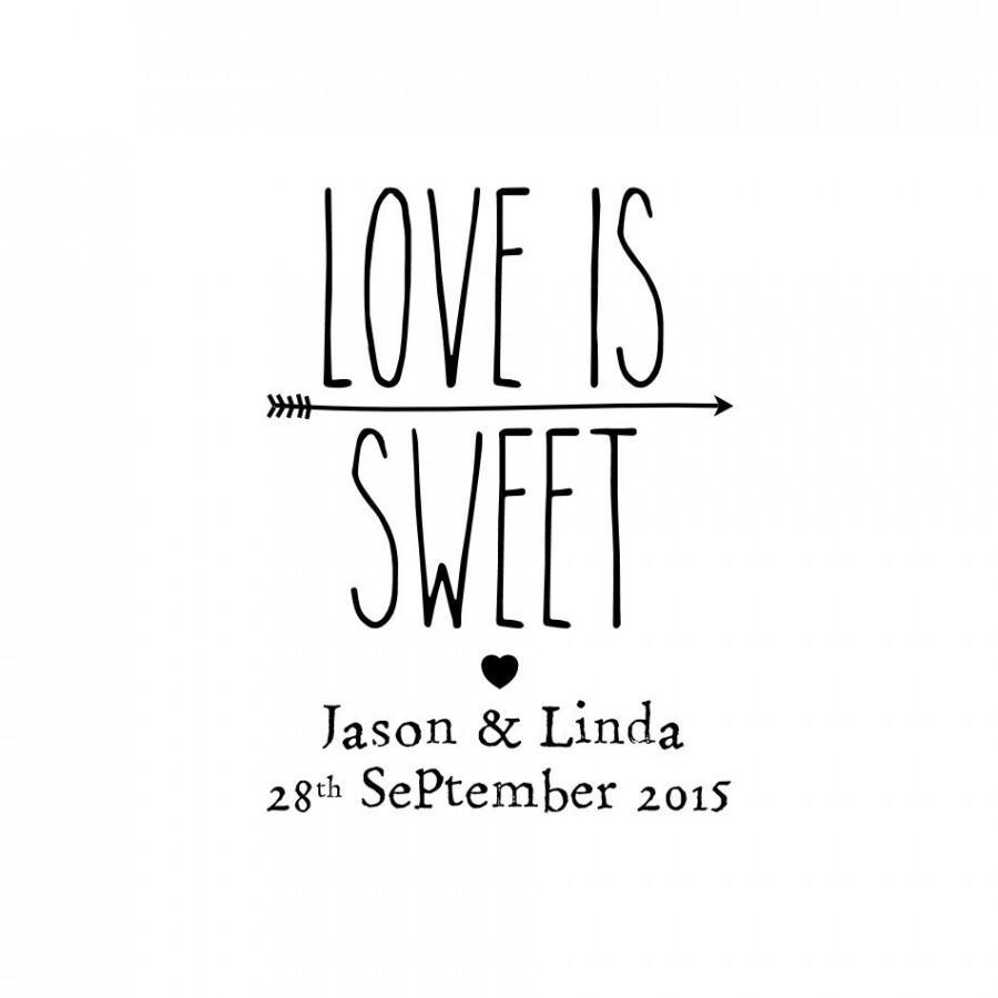781b1948877d1 CUSTOM LOVE Is Sweet Stamp - Wedding Stamp, Card Stamp, Invitation ...