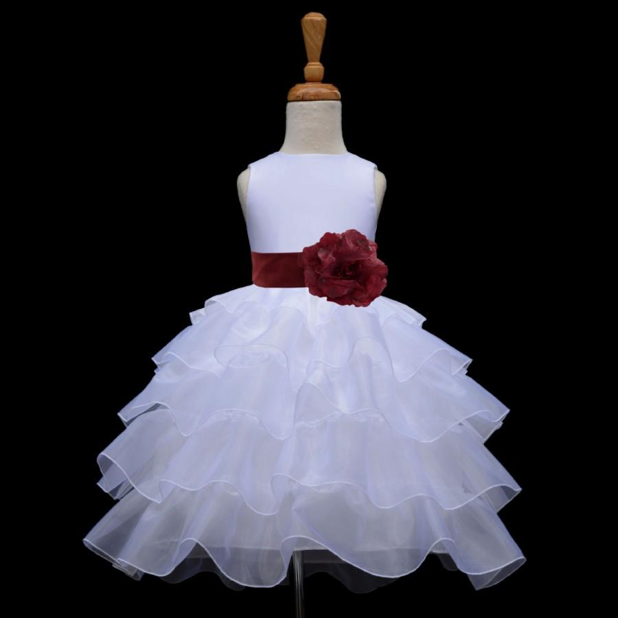 Свадьба - White organza Flower Girl dress sash pageant wedding bridal children bridesmaid toddler elegant sizes 12-18m 2 2t 3t 4 5t 6 6x 8 10
