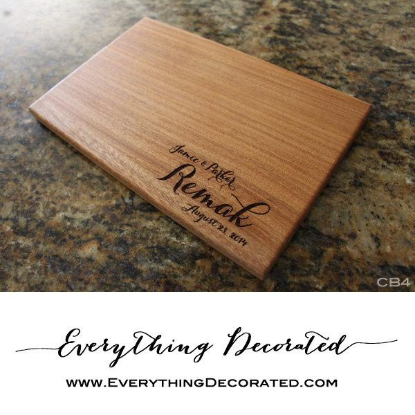 engraved cutting board personalized cutting board housewarming