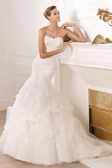 Wedding - Mermaid Tail Backless Wedding DressesWith Ruffles