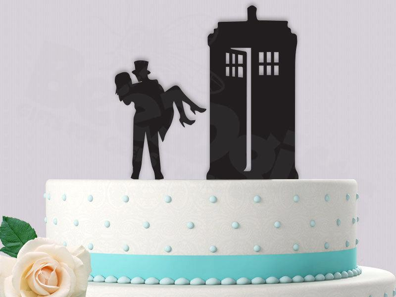 Hochzeit - Dr who Cake Topper Bride and Groom Tardis