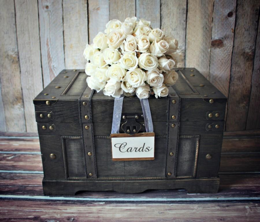 TrunklargeXLvintage Inspiredshabby Chicweddingcard Holder – Large Wedding Card Box