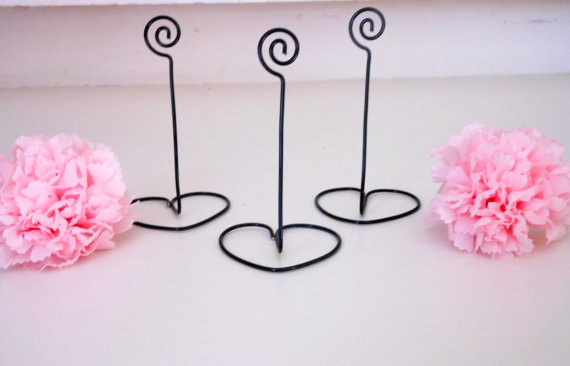 Hochzeit - SET OF 20 black table number holders
