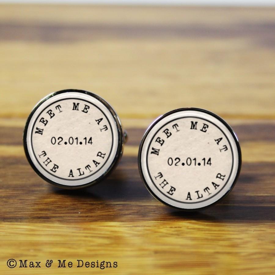 Wedding Altar Meet The Parents: Personalized Wedding Cufflinks