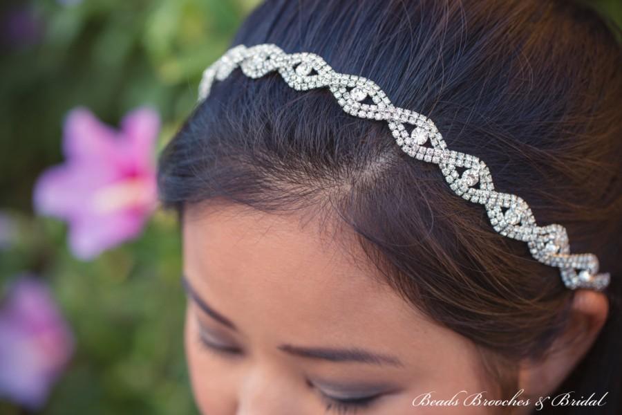 Mariage - Rhinestone Headband, Wedding Headband, Crystal Bridal Headband, Rhinestone Crystal Headband, Wedding Head Piece