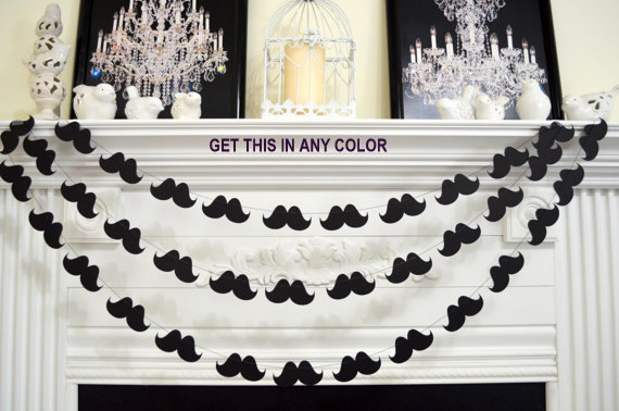 Mariage - Mustache Garland, Little Man mustache Party, Mustache Baby Shower, Mustache Birthday Party, Photo Booth Props, Wedding Mustache Garland
