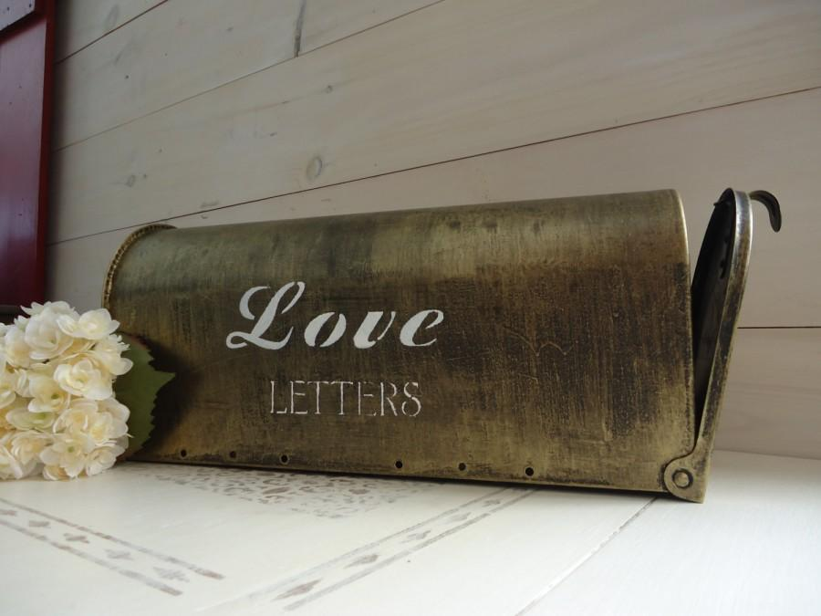 Свадьба - Vintage Gold Wedding Card Mailbox