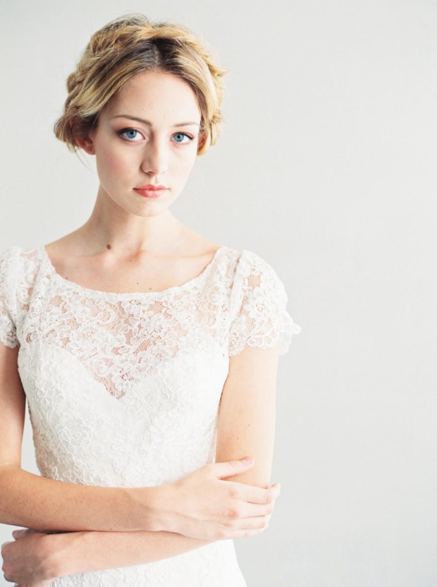 Свадьба - Alice - Lace and Silk Wedding Dress