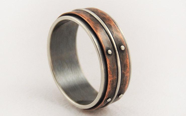 31 innovative unique mens wedding rings. Black Bedroom Furniture Sets. Home Design Ideas