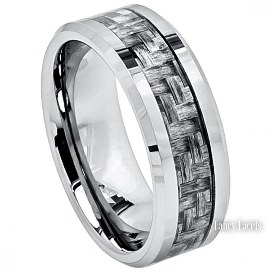 Tungsten Wedding Bands Mens Ring Mens Jewelry Mens Rings
