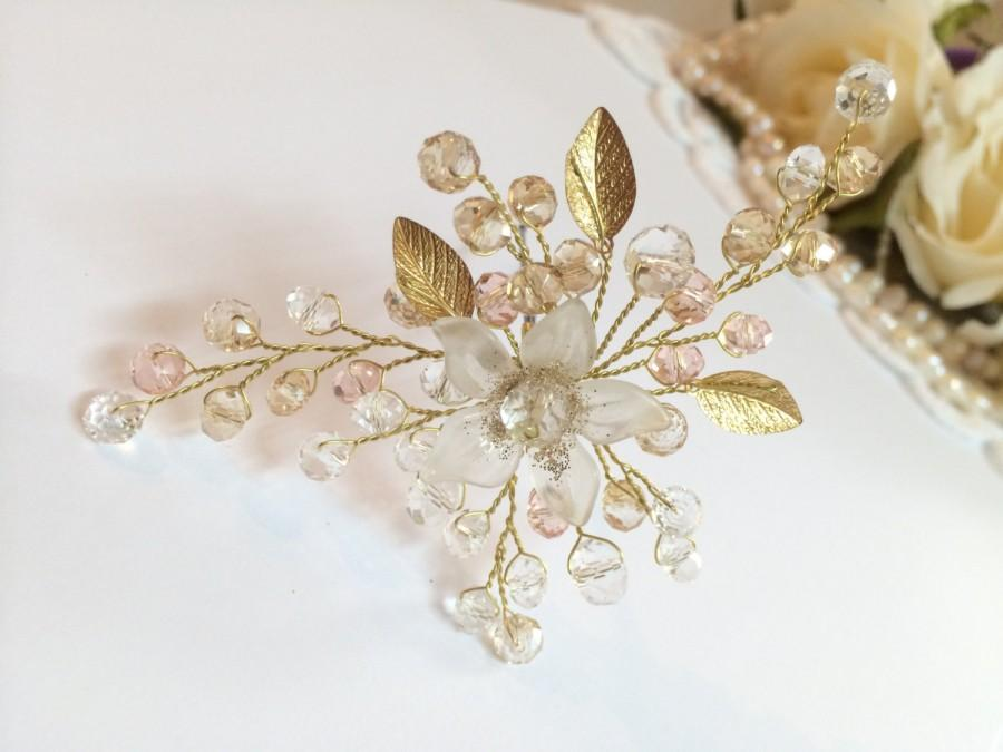 Mariage - Bridal Hair Pin, Bridal Hair Pins, Flower Headpiece, Hair Pin Bride, Bridal Hair Accessories, Bridal Headpiece, Hair Pin Headpiece, Bridal