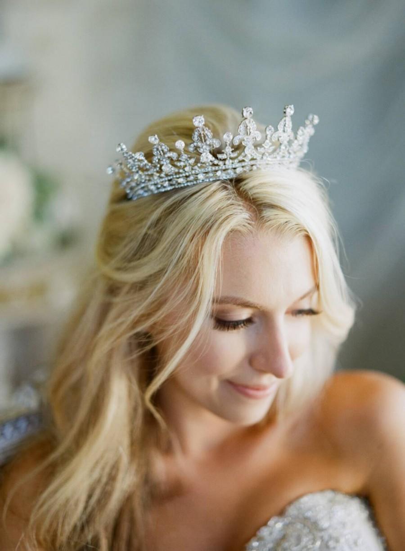 Mariage - Bridal Tiara - QUEEN MARY,Royal Bridal Tiara, Crystal Wedding Crown, Rhinestone Tiara, Wedding Tiara, Diamante Crown,Swarovski Crystal Tiara