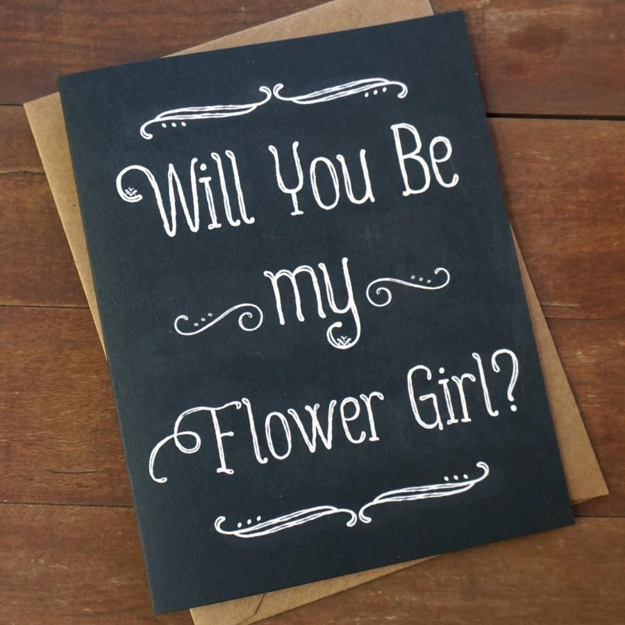 Will You Be My Flower Girl Card Ask Flower Girl Invitation Flower