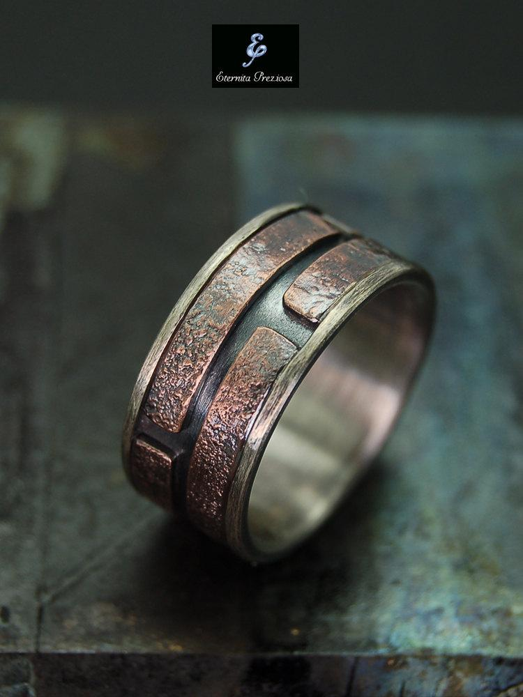unique mens ring mens engagement ring mens wedding band unique wedding ring unique promise ring anniversary rings mens band ring - Unusual Mens Wedding Rings
