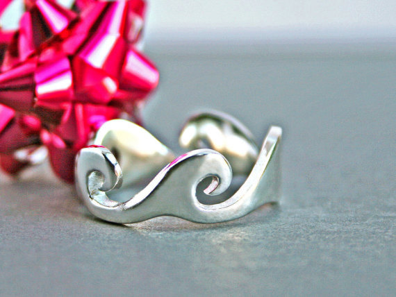 زفاف - Silver Wave Ring Ocean Wave Ring Wave Jewelry Ocean Wave Jewelry Ocean Jewelry Unique Wedding Rings His Hers Wedding Bands Trending Jewelry