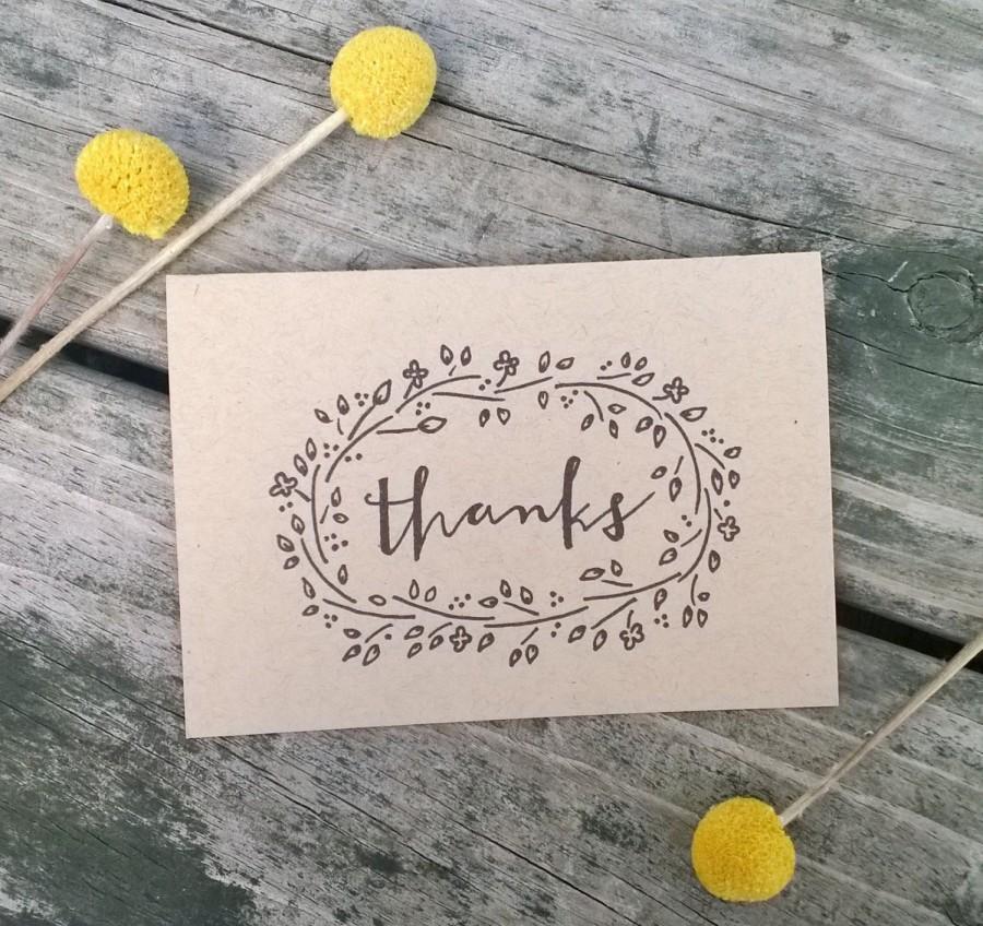 Mariage - Thank You Cards, Wedding Thank You Cards, Rustic Thank You Cards, Thank You Card Set
