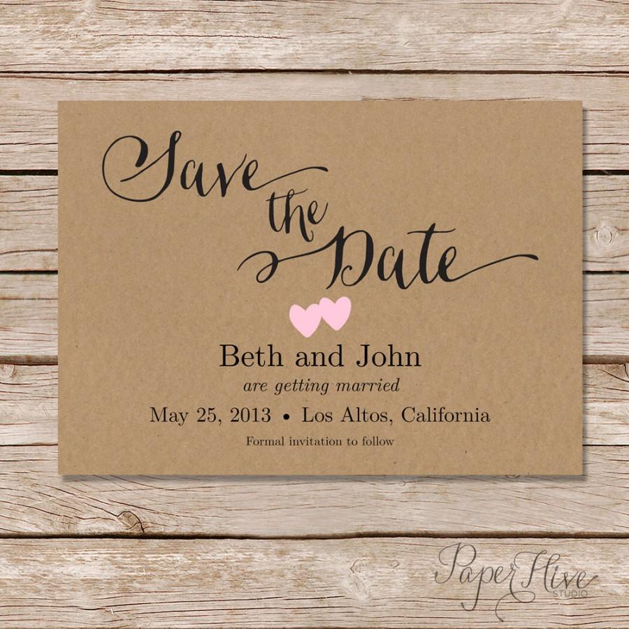 Rustic Save The Date Card / Printable Save The Date / Digital File ...