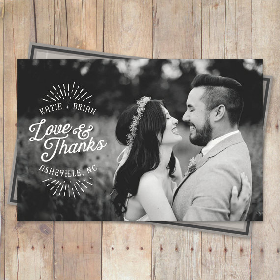 thank you cards wedding thank you wedding cards love and thanks - Wedding Thank You Cards