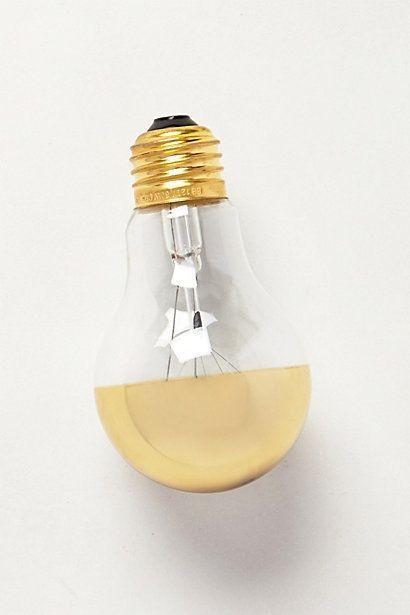 زفاف - Half Gold Light Bulb