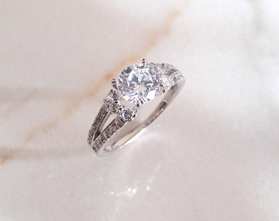 زفاف - AmourJewellery - Fine Handcrafted Engagement Ring; Style RB0089; 14K Gold