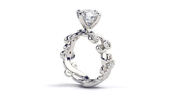 Mariage - 1.03 Carat Vintage Diamond Ring, 18K White Gold Engagement Ring, Diamond Engagement Ring, Art Deco Ring, Unique Rings