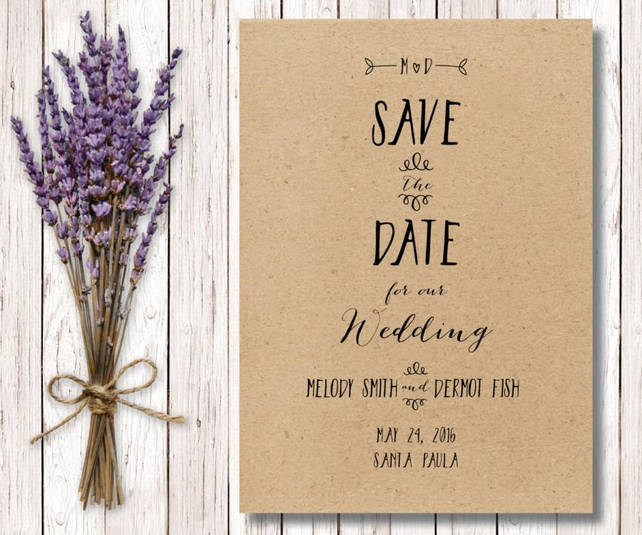 Printable rustic save the date diy save the date kraft paper save printable rustic save the date diy save the date kraft paper save the date simple save the date the zuma collection junglespirit Choice Image