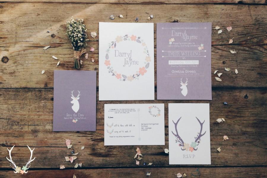 Wedding - Woodland Wedding Invitation