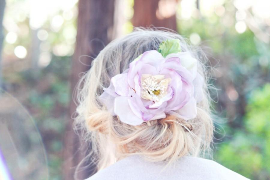 Wedding - Silk Chiffon Rose, Bridal Accessories, wedding Flower Hair Clip, Bridal Hair Clip, Flower for Hair