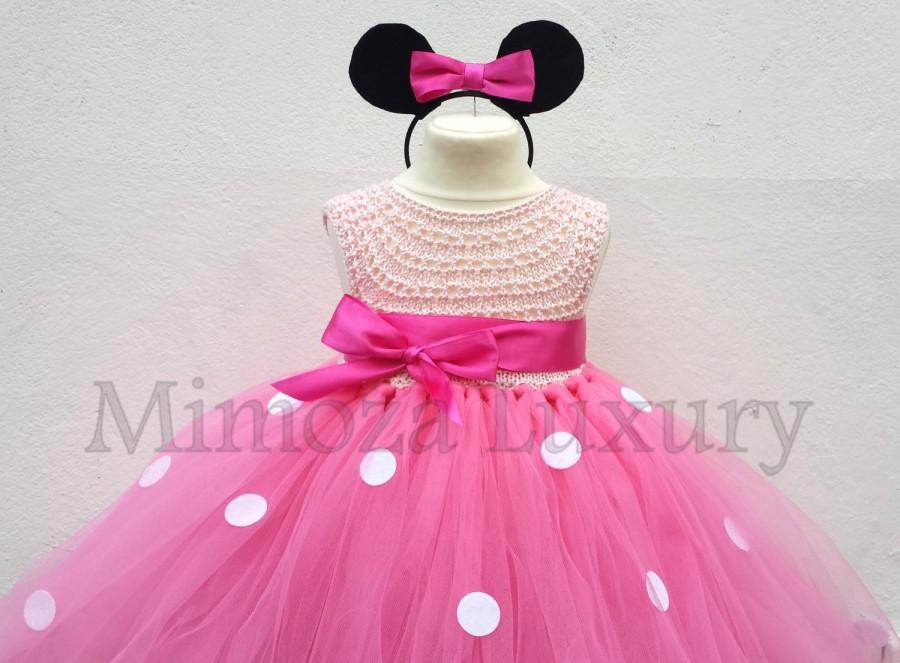 Minnie Mouse Dress Minnie Mouse Birthday Dress Flower Girl Dress