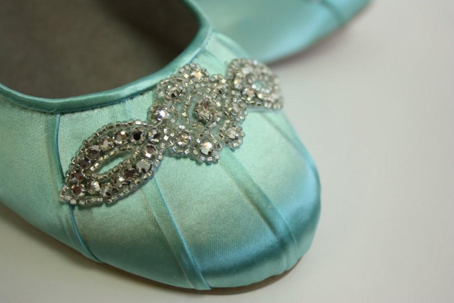 Свадьба - Wedding Shoes - Ballet Flats - Wedding Shoe Flats - Aqua Blue Wedding Shoe - Blue Flats - Blue Ballet Slipper - Aqua Wedding - Wedding Flats