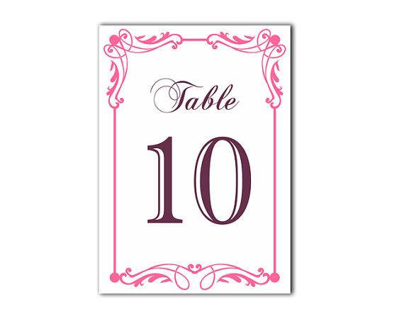 Terrific Table Numbers Wedding Table Numbers Printable Table Cards Download Free Architecture Designs Rallybritishbridgeorg