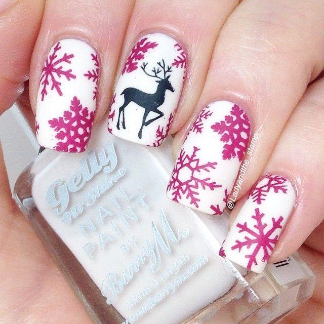 زفاف - Christmas Nail Art: 28 Festive Designs With Tutorials!