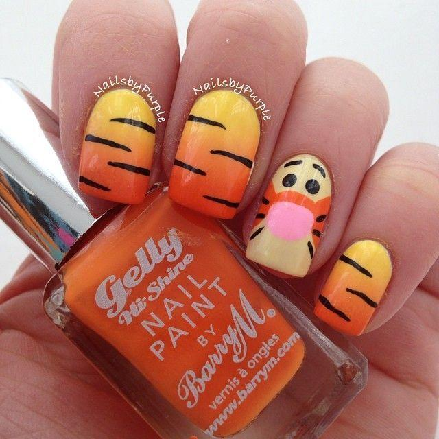 زفاف - Orange Nails Art Design 2016 For Women