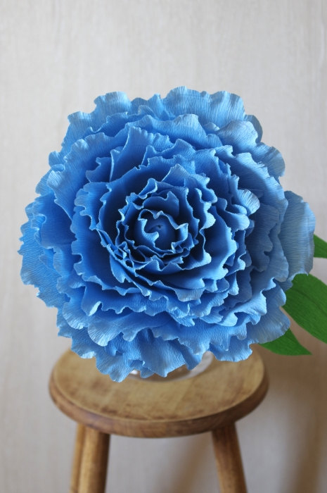 Sale 15 giant crepe paper peony ready to ship blue peony diameter sale 15 giant crepe paper peony ready to ship blue peony diameter 13 inches large paper flower sky blue wedding bride giant flower mightylinksfo