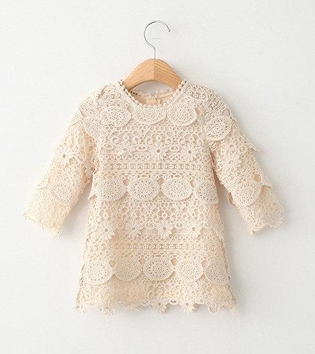 Mariage - Boho Style Vintage Long sleeve Crochet Dress