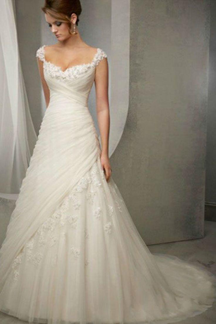 Wedding - New White/Ivory Lace Wedding Dress Bridal Gown Custom Sz 4 6 8 10 12 14 16