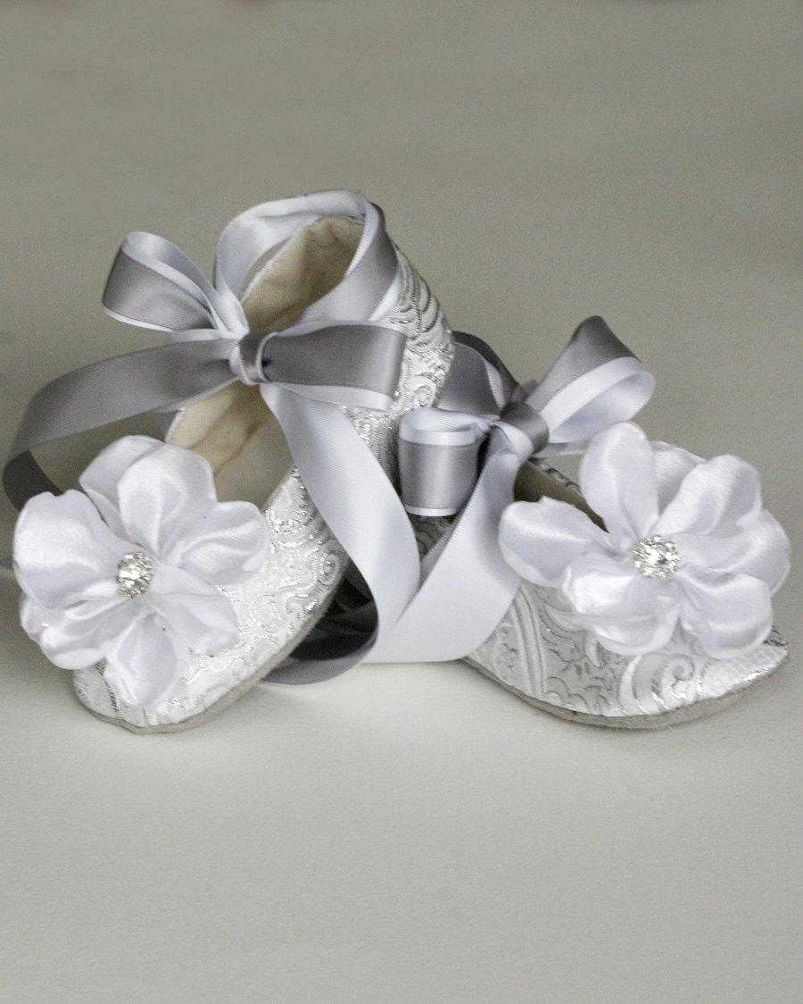 Silver Toddler Shoes Baby Flower Girl Shoe Also Gold Ivory White