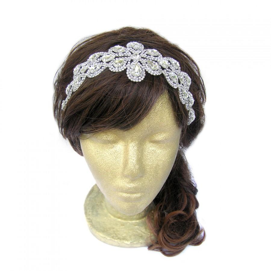Mariage - 1920s Headpiece, Great Gatsby Headpiece, Wedding Hairpiece, Bridal Headband, Bridal Circlet, Wedding Hair Accessories, Rhinestone